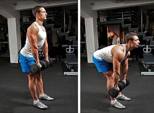 Как правильно делать становую тягу с гантелями