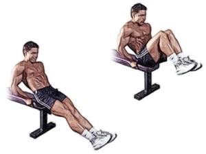 Подъём ног сидя